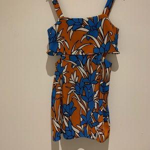 Top shop side cut-out dress